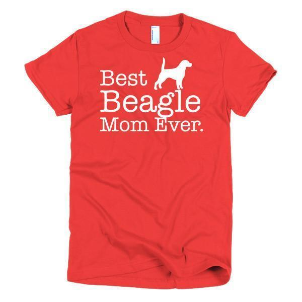 buy Best Beagle Mom Ever Dog Lover T-shirt online at BELDISEGNO for just $24.00 | Color Red | Size S | Fit Type Women