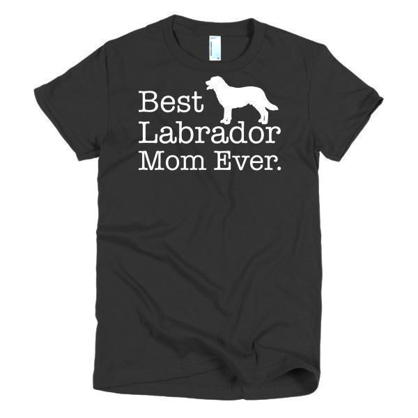 Women's Best Labrador Mom Ever Dog Lover TShirt-T-Shirt-BelDisegno-Black-S-Women-BelDisegno