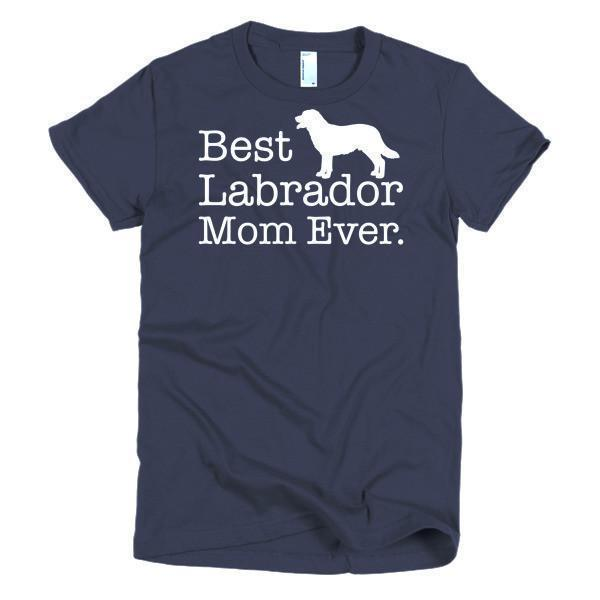 Women's Best Labrador Mom Ever Dog Lover TShirt-T-Shirt-BelDisegno-Navy-S-Women-BelDisegno