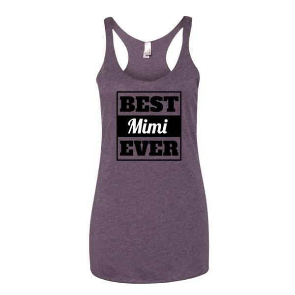 Women's Best mimi Ever Tank Top-Tank Top-BelDisegno-Vintage Purple-XS-BelDisegno