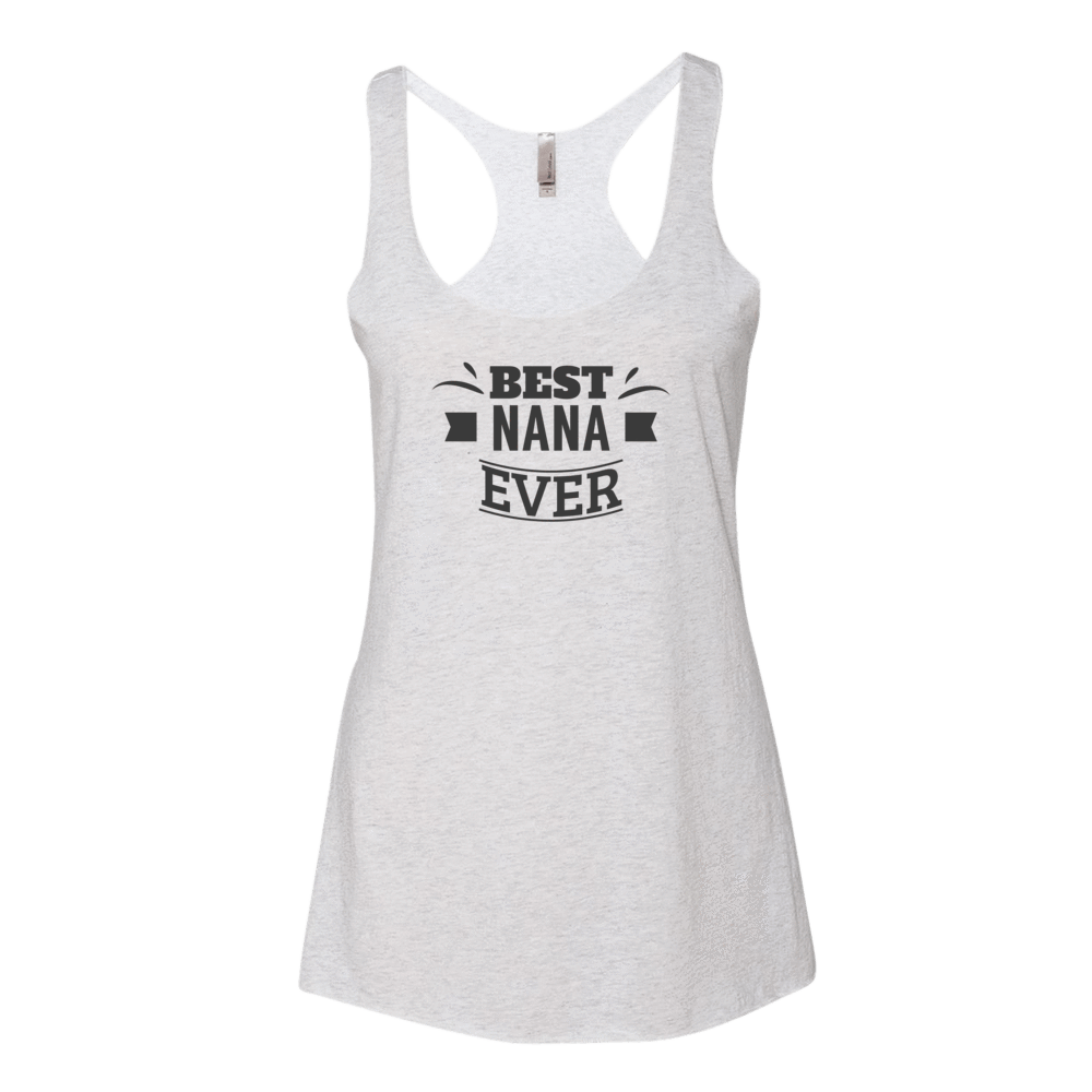 Women's Best Nana Ever Tank Top-Tank Top-BelDisegno-Heather White-XS-BelDisegno