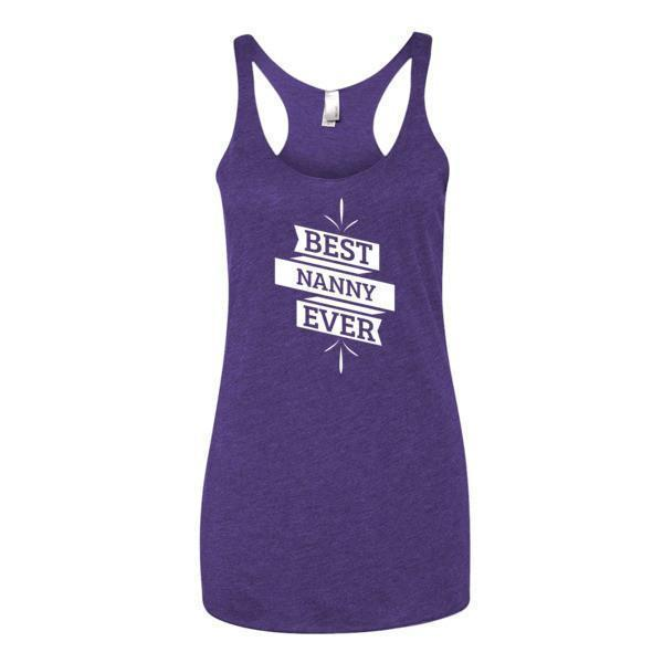 Women's Best Nanny Ever Tank Top-Tank Top-BelDisegno-Purple Rush-XS-BelDisegno