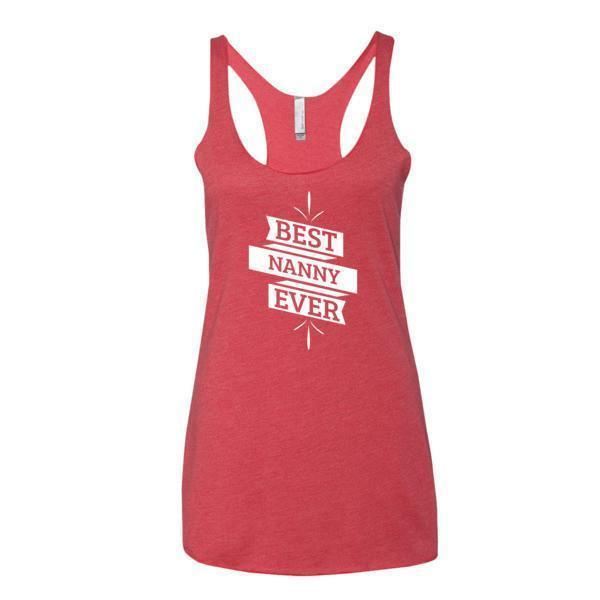Women's Best Nanny Ever Tank Top-Tank Top-BelDisegno-Vintage Red-XS-BelDisegno