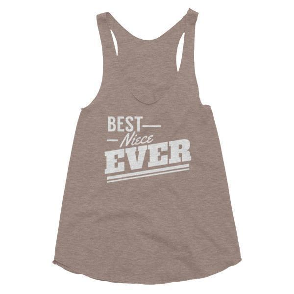 Women's Best Niece Ever Tank Top-Tank Top-BelDisegno-Tri-Coffee-XS-BelDisegno