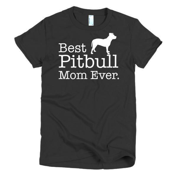 Women's Best Pitbull Mom Ever Dog Lover TShirt-T-Shirt-BelDisegno-Black-S-Women-BelDisegno