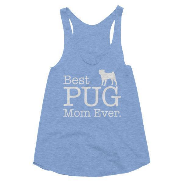 Women's Best PUG Mom Ever Dog Lover Gift Tank Top-Tank Top-BelDisegno-Athletic Blue-XS-BelDisegno