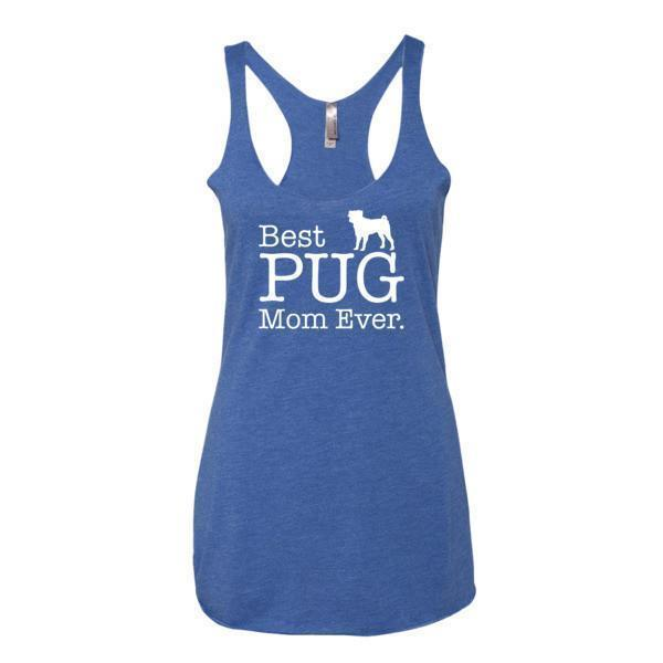 Women's Best PUG Mom Ever Dog Lover Gift Tank Top-Tank Top-BelDisegno-Vintage Royal-XS-BelDisegno