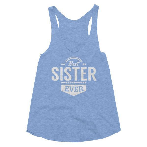 Women's Best sister Ever Tank Top Athletic Blue / L Tank Top BelDisegno