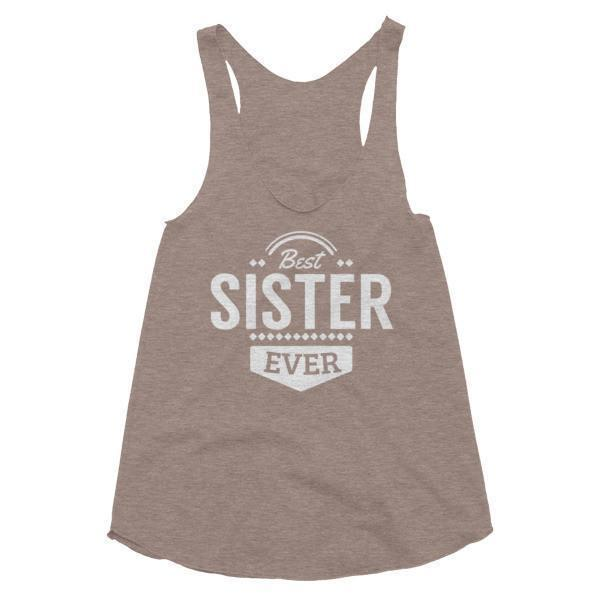Women's Best sister Ever Tank Top Tri-Coffee / L Tank Top BelDisegno