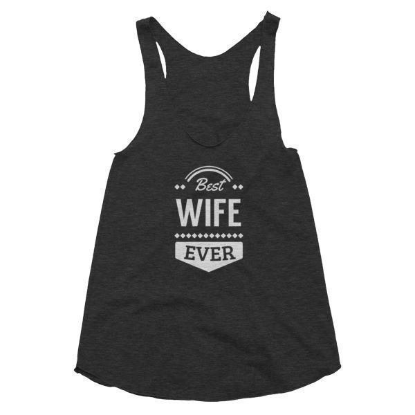 Women's Best Wife Ever Tank Top-Tank Top-BelDisegno-Tri Black-XS-BelDisegno
