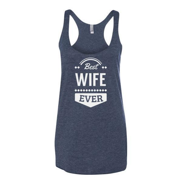 Women's Best Wife Ever Tank Top-Tank Top-BelDisegno-Vintage Navy-XS-BelDisegno