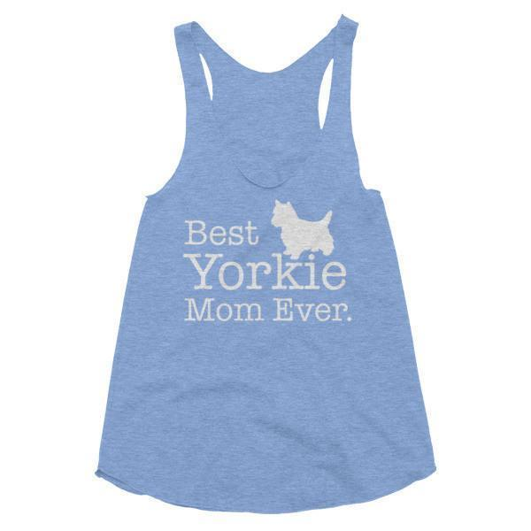 Women's Best Yorkie Mom Ever Dog Lover Tank Top-Tank Top-BelDisegno-Athletic Blue-XS-BelDisegno
