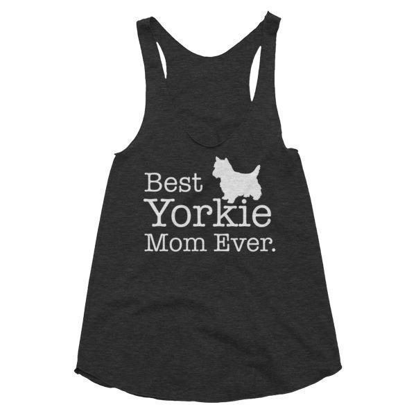 Women's Best Yorkie Mom Ever Dog Lover Tank Top-Tank Top-BelDisegno-Tri Black-XS-BelDisegno