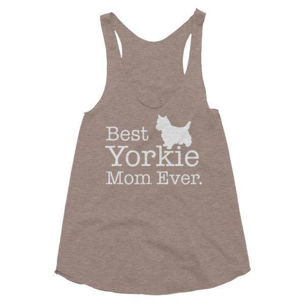 Women's Best Yorkie Mom Ever Dog Lover Tank Top-Tank Top-BelDisegno-Tri-Coffee-XS-BelDisegno