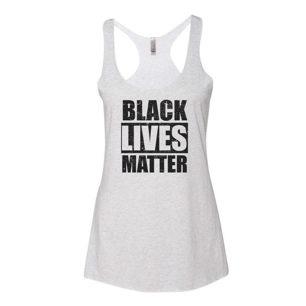 Women's Black Lives Matter Tank Top Heather White / XL Tank Top BelDisegno