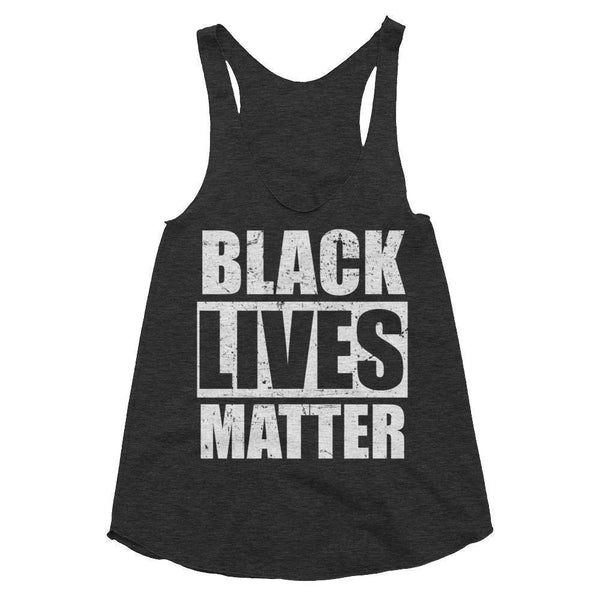 Women's Black Lives Matter Tank Top Tri Black / L Tank Top BelDisegno