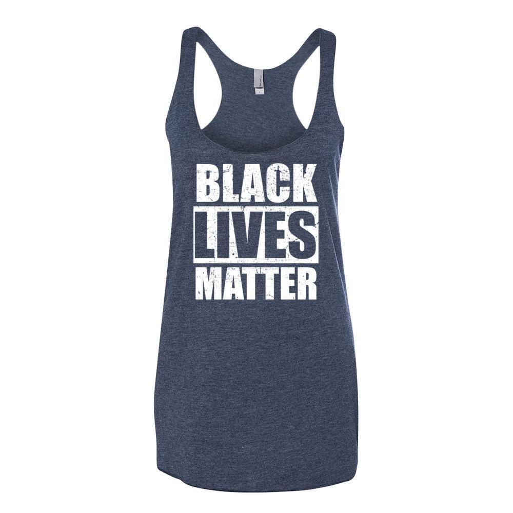 Women's Black Lives Matter Tank Top Vintage Navy / XL Tank Top BelDisegno