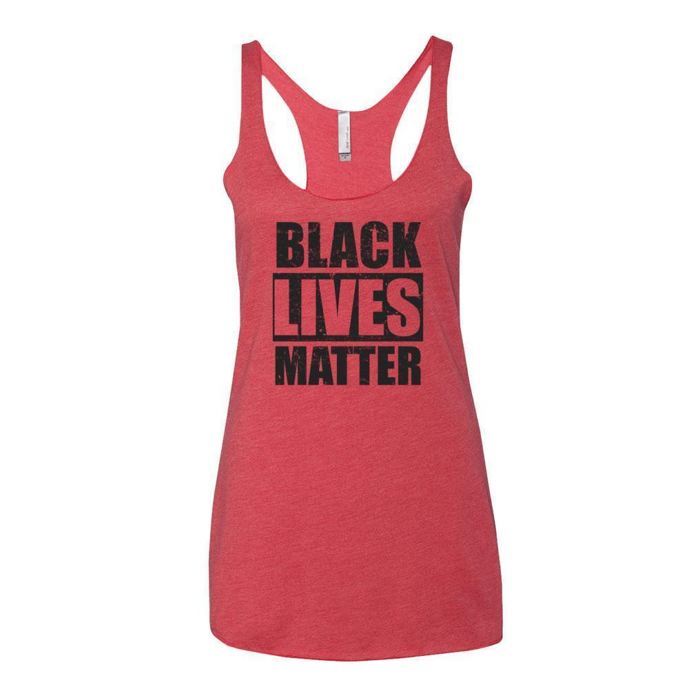 Women's Black Lives Matter Tank Top Vintage Red / XL Tank Top BelDisegno