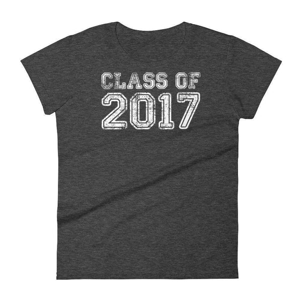 Women's Class of 2017 tshirt Back to school gift-T-Shirt-MaryLaax-Heather Dark Grey-S-BelDisegno