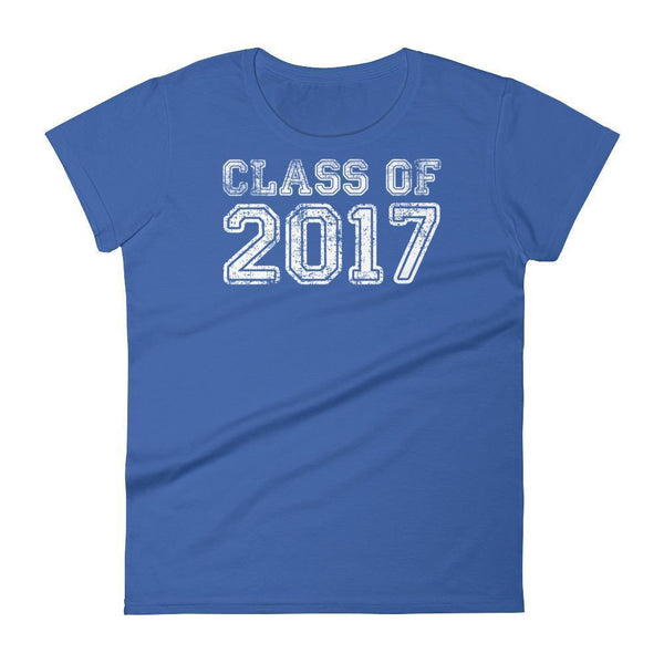 Women's Class of 2017 tshirt Back to school gift-T-Shirt-MaryLaax-Royal Blue-S-BelDisegno