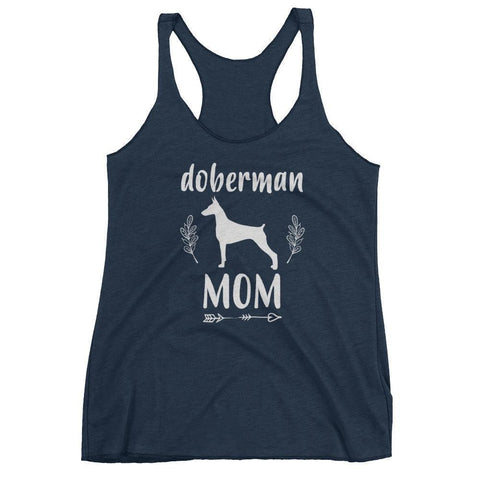 Women's Doberman Mom tank top Doberman gift-Tank Top-BelDisegno-Vintage Navy-XS-BelDisegno