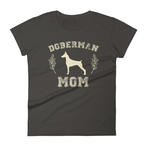 Women's Doberman Mom tshirt Doberman gift for dog lovers-T-Shirt-BelDisegno-Smoke-S-BelDisegno