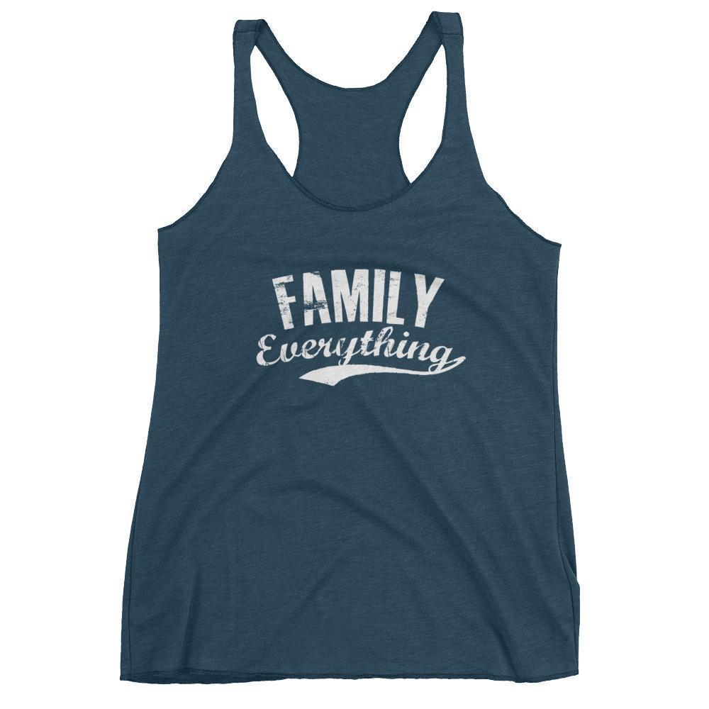 Women's Family Everything tank top gift for family lovers Indigo / XL Tank Top BelDisegno