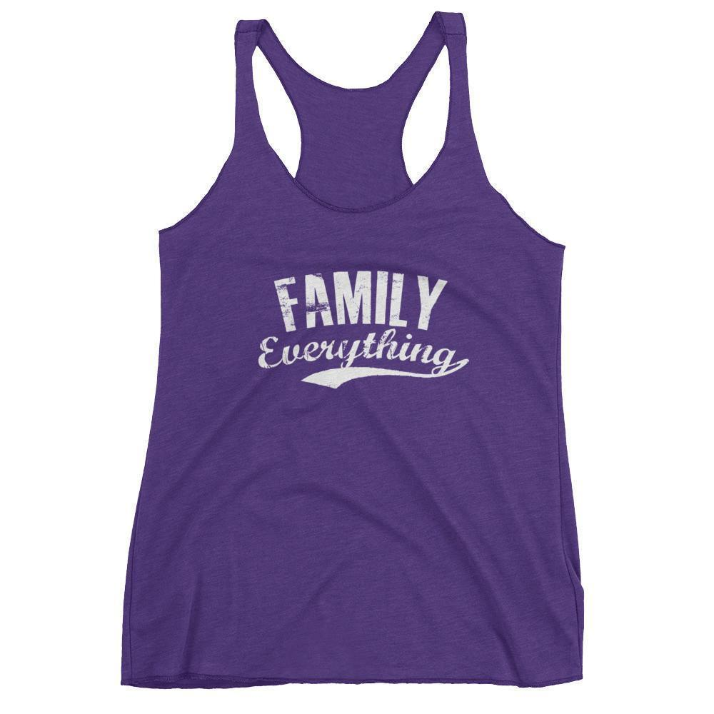 Women's Family Everything tank top gift for family lovers Purple Rush / XL Tank Top BelDisegno