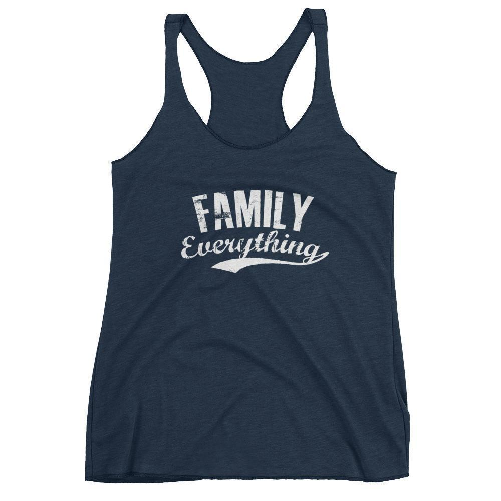 Women's Family Everything tank top gift for family lovers Vintage Navy / XL Tank Top BelDisegno
