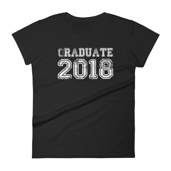 Women's Graduated 2018 tshirt Funny back to school gift-T-Shirt-MaryLaax-Black-S-BelDisegno