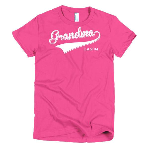 Women's Grandma Est 2014 T-shirt Hot Pink / 2XL / Women T-Shirt BelDisegno