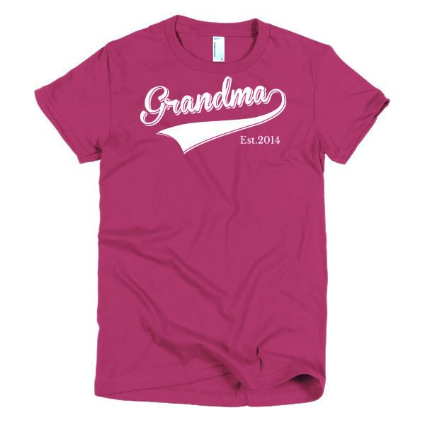 Women's Grandma Est 2014 T-shirt Raspberry / 2XL / Women T-Shirt BelDisegno