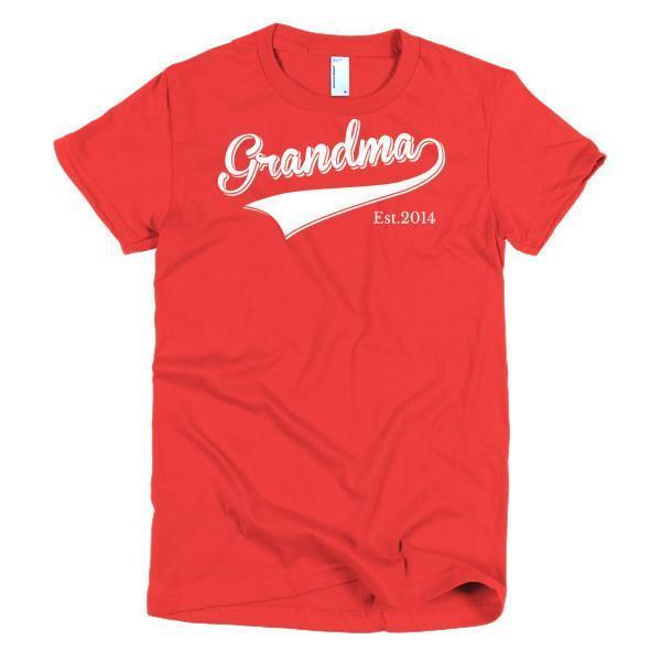 Women's Grandma Est 2014 T-shirt Red / 2XL / Women T-Shirt BelDisegno