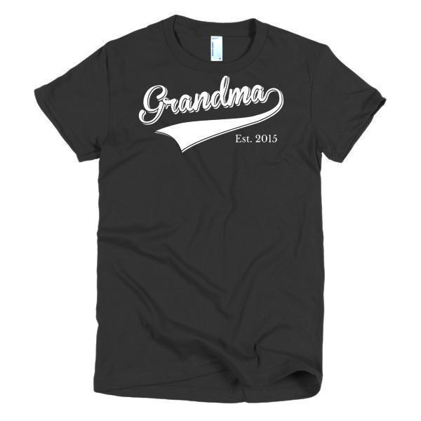 Women's Grandma Est 2015 T-shirt Black / 2XL / Women T-Shirt BelDisegno