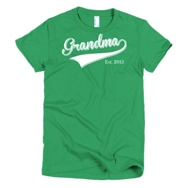 Women's Grandma Est 2015 T-shirt Kelly Green / 2XL / Women T-Shirt BelDisegno