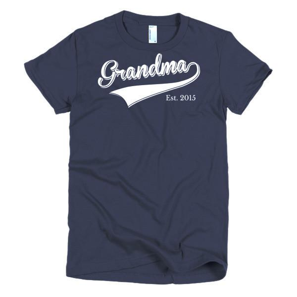 Women's Grandma Est 2015 T-shirt Navy / 2XL / Women T-Shirt BelDisegno