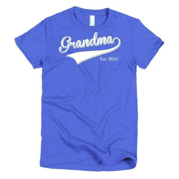 Women's Grandma Est 2015 T-shirt Royal Blue / 2XL / Women T-Shirt BelDisegno