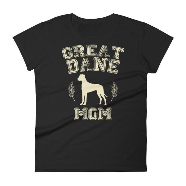 Women's Great Dane Mom tshirt Great Dane gift for dog lovers Black / 2XL T-Shirt BelDisegno