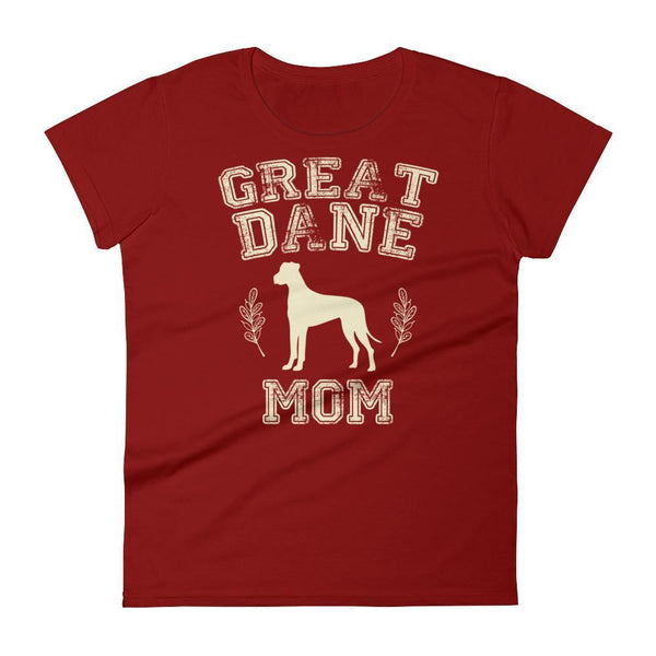 Women's Great Dane Mom tshirt Great Dane gift for dog lovers Independence Red / 2XL T-Shirt BelDisegno
