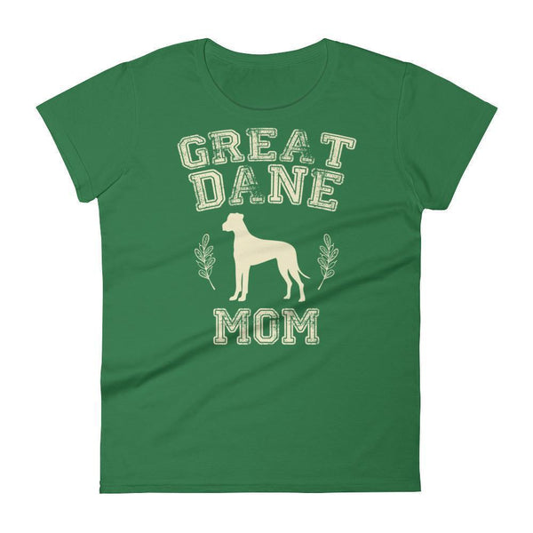 Women's Great Dane Mom tshirt Great Dane gift for dog lovers Kelly Green / 2XL T-Shirt BelDisegno