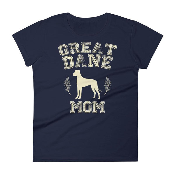 Women's Great Dane Mom tshirt Great Dane gift for dog lovers Navy / 2XL T-Shirt BelDisegno