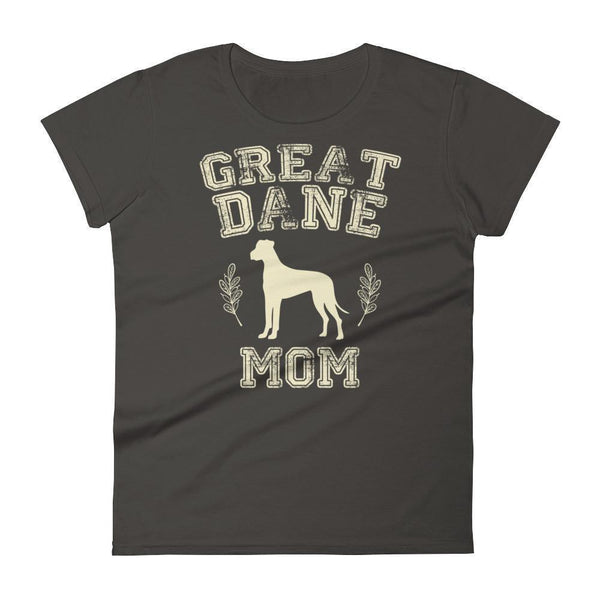 Women's Great Dane Mom tshirt Great Dane gift for dog lovers Smoke / 2XL T-Shirt BelDisegno