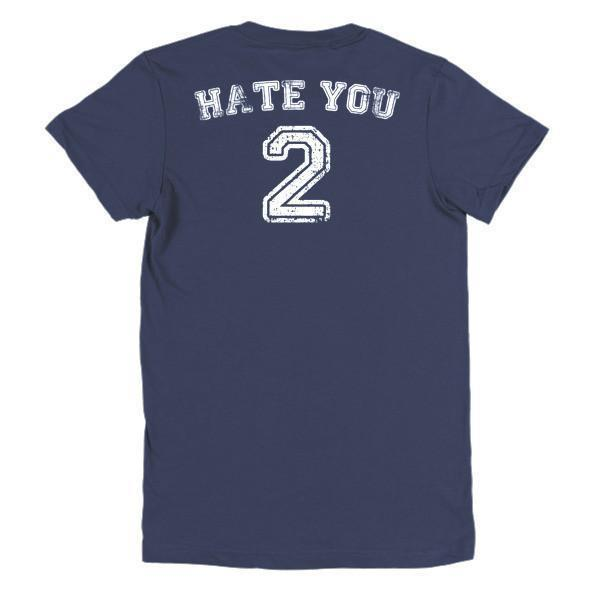 Women's Hate You too T-shirt Navy / 2XL / Women T-Shirt BelDisegno