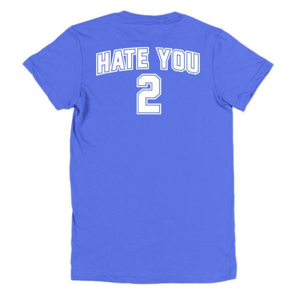 Women's Hate You too T-shirt Royal Blue / 2XL / Women T-Shirt BelDisegno