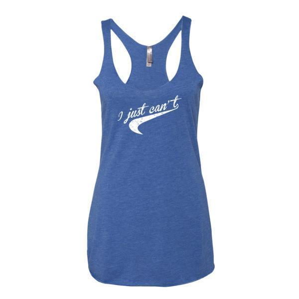 Women's I Just Can't. Nice Parody distressed Tail graphic Tank Top Vintage Royal / XL Tank Top BelDisegno