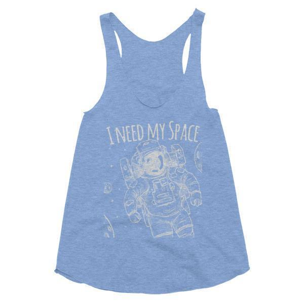 Women's I need my space Tank Top Athletic Blue / L Tank Top BelDisegno