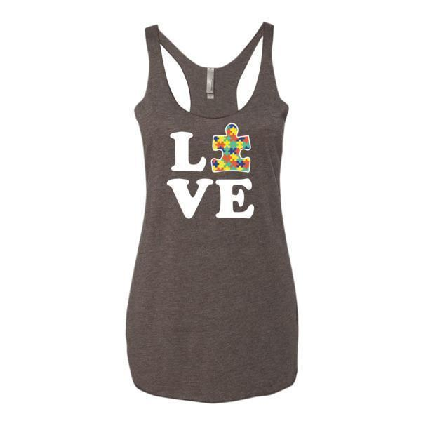 Women's Love Autism Autism Awareness Tank Top  Tank Top BelDisegno