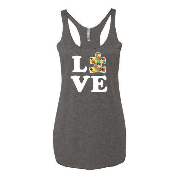 Women's Love Autism Autism Awareness Tank Top Premium Heather / XL Tank Top BelDisegno
