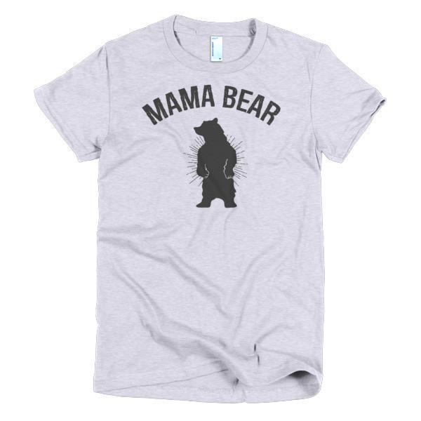 Women's Mamma Mama bear mom gift T-shirt Heather Grey / 2XL / Women T-Shirt BelDisegno