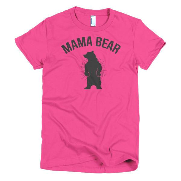Women's Mamma Mama bear mom gift T-shirt Hot Pink / 2XL / Women T-Shirt BelDisegno